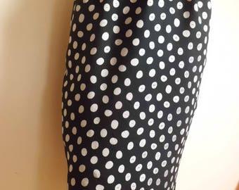 Vintage Pauline Paris t38 dots skirt