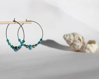 Swarovski Pearl and hoop earrings