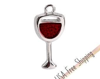 5pc Wine Glass Charms