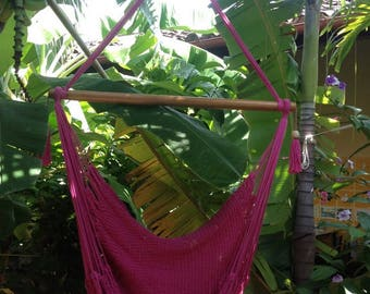 Pink Hammock Chair, Pink Chair, Pink Decor, Hanging Chair, Pink Hammock, Hanging Chair Vintage, Boho Decoration, Outdoor Hammock Swing