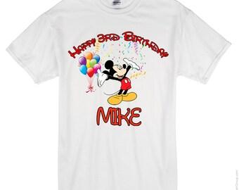 Mickey Mouse Birthday Shirt, Mickey Mouse Custom Shirt, Personalized Mickey Mouse Shirt, Mickey Mouse family shirts, Birthday t-shirts