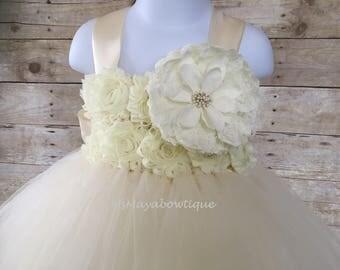 Flower girl dress ivory, tutu dress ivory, baby girl dress, flower girl dress tulle, tutu dress for girls, tutu drress for toddler, wedding