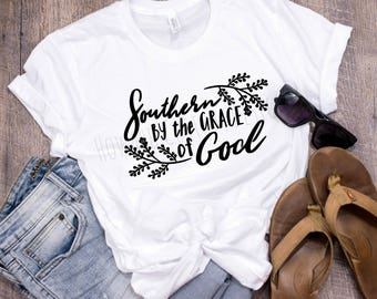 Southern By The Grace of God T-Shirt | Southern T-Shirt | Southern Tee | Boutique Tee