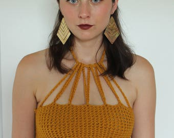 Band of Gold Crochet Top Handmade in Canada