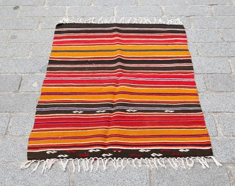 117x78 cm Kilim Rug,Vintage Turkish kilim Rug,Anatolian Handwoven Kilim rug,Vintage Rug,Floor Rug no:1084