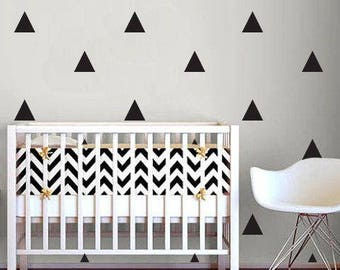 Triangle wall decals,room decor,wall stickers,gold triangles,black triangles,nursery decor,kids room,home wall decals,modern home, living