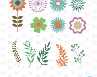 Flower SVG, PNG, DXF, Eps Cutting Files, Flower Cut File, Flowers clipart, Flowers vector, Flower download, Floral Svg, Floral Clipart