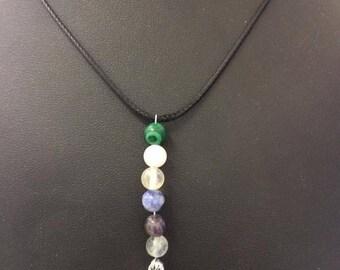 Virgo astrological sign necklace minerals / gemstones