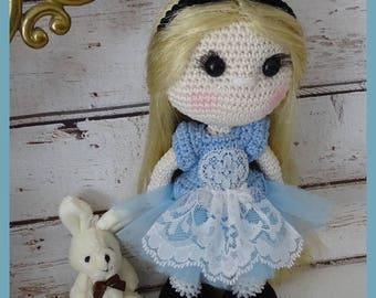 Crochet Amigurumi doll, Alice
