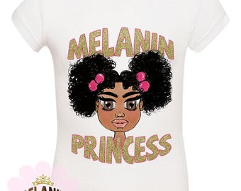 Melanin Princess Toddler Tee