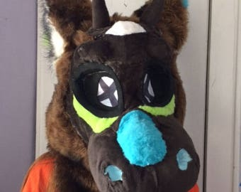 Voodoo Themed Dutchie Partial Suit - Head, Tail, Paws