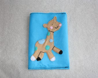 Protects health record giraffe for boy. Birthday gift idea.