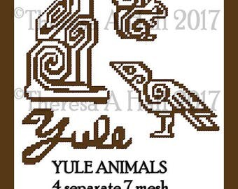 Yule Animals Plastic Canvas Patterns