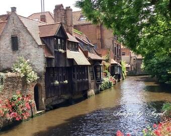 Fairytale Land Bruges Belgium Fine Art Photography Download or Custom Art Print - Printable Art - Travel Photography - Bruges Photography