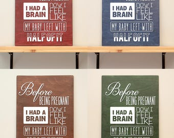 Maternity quote - vinyl on varnished wood (choose from 2 sizes and a range of colours) - wall decor