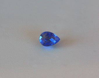 Loose Tanzanite stone Pear cut faceted gemstone 2.73ct teardrop Violet blue Tanzanite December birthstone