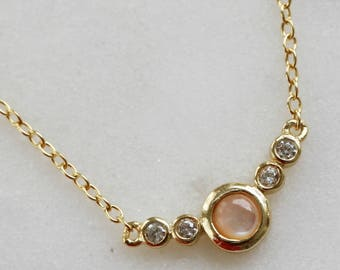 Rose opal pendant necklace