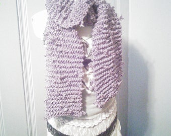 Chunky knit shoelace scarf