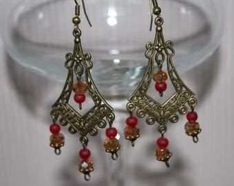 Piece 23 component Pearl chandelier earrings