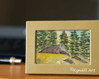 Original watercolor - Miniature painting - Small art - Watercolor ACEO - 2 1/2 x 3 1/2 - Landscape watercolor - Original art - Gift for her