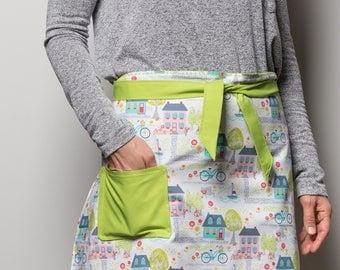 Apron, reversible apron, skirt apron, half apron