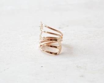 Statement ring, Gold ring, Stacking gold ring, Minimalist ring, Statement Jewelry, 14k gold plated