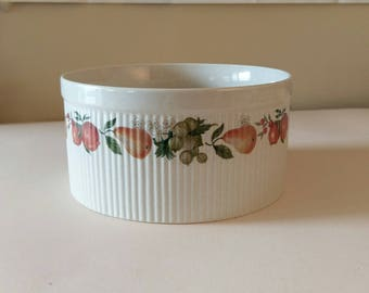 Wedgewood Pear Pattern Souffle Bowl, 1970u0027s Style Dish, Vintage Ceramic  Bowl, Oven To