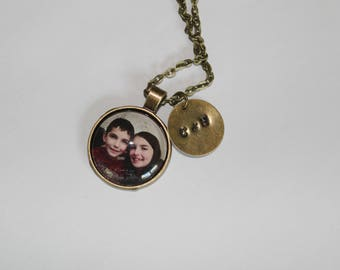 Personalized Message and Photo Necklace