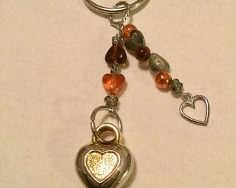 Puffed Heart Keychain