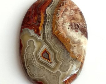 Crazy Lace Agate Oval Cabochon, Natural Lace Agate Designer Cabochon, 31x20 MM, 25 Cts, Crazy Lace Agate Stone, Loose Cabochon.
