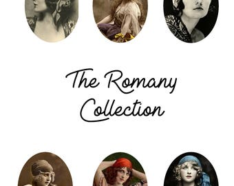 30mm x 40mm cabochons The Romany Collection gypsy collage sheet for jewellery making, scrapbooking, INSTANT DOWNLOAD