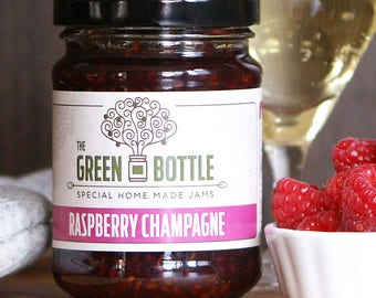 Raspberry champagne jam