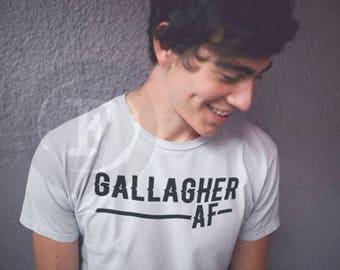 Gallagher shirt, Gallagher, the gallaghers , Gallagher AF, shameless AF, shameless clothing, shameless t-shirt, shameless show, shameless t