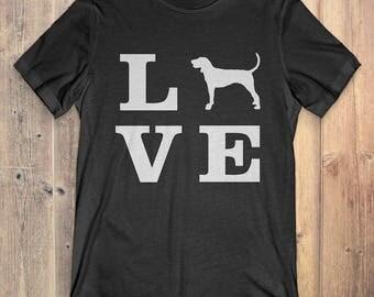 Bluetick Coonhound Dog T-Shirt Gift: I Love Bluetick Coonhound