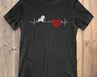 Cavalier King Charles Spaniel Dog T-Shirt Gift: Cavalier King Charles Spaniel Heartbeat
