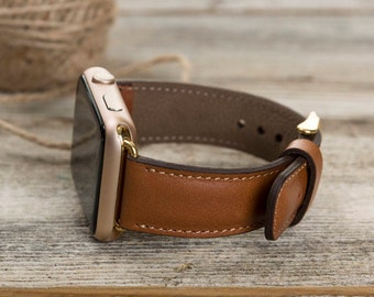 Tan Leather Apple Watch band, 42mm, 38mm, Leather watch band, Apple watch strap, iwatch band, Apple watch leather band, brown iwatch strap