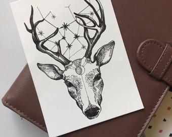temporary tattoo | deer