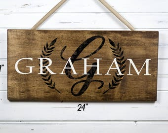 Family Name Sign / Family Sign / Rustic Wood Sign