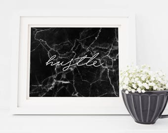 Hustle Marble Print – Instant Download