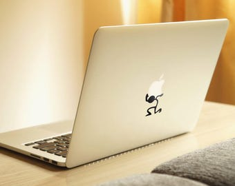 The weight of an Apple Decal Sticker for Macbooks and other Laptops   Laptop Macbook Newton Stickman Stick Funny Decal   Stickman Collection