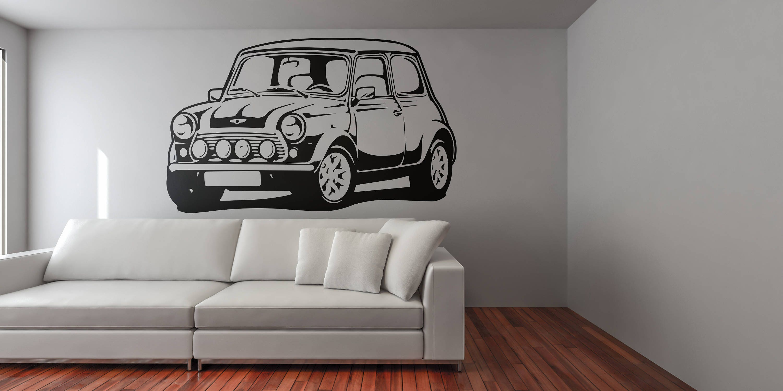 Mini classic car silhouette old vintage and iconic cars wall mini classic car silhouette old vintage and iconic cars wall decal sticker for home decor and improvement retro decals for car fans amipublicfo Images