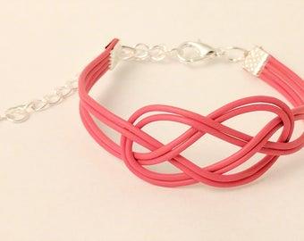 Knotted Pink E-Waste Bracelet