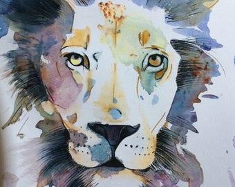 Lion- Giclee print of original artwork