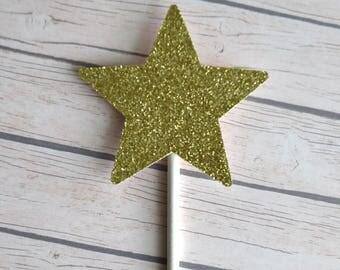 Star Cupcake Topper, Twinkle Twinkle Little Star Birthday, Star Baby Shower, Star Gender Reveal, Moon and Stars, 1st Birthday, Moon, Stars