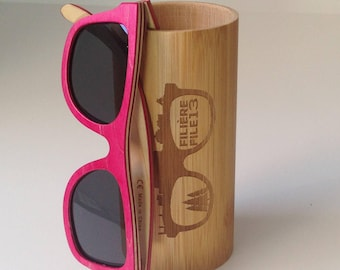 PrettyRose - Sunglasses wooden - filiere13 - UV400 - polarized - File13 - Wooden sunglasses - UV400 - polarized