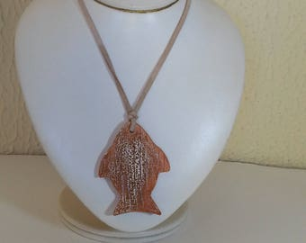 Ceramic fish necklace