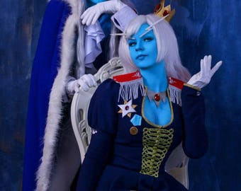 Adventure time Ice Queen King cosplay costume