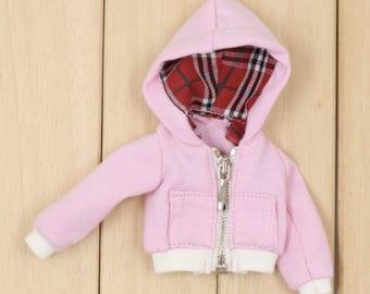 Barbie Clothes Cute Pink Zip Jacket Hoodie