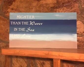 Psalm 93 custom wood sign