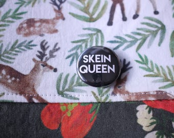 SKEIN QUEEN button badge for crocheters; handdyed; indie dyers; knitters! Ideal Christmas gift; from Harbour Crochet